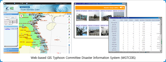 Web-based GIS Typhoon Committee Disaster Information System (WGTCDIS)